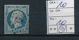 FRANCE YVERT 10 USED - 1853-1860 Napoléon III