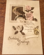 Birthday Greetings ~ Wishes For Your Birthday ~ Photo By Claude Harris ~ Series No. 1002/5 - Birthday