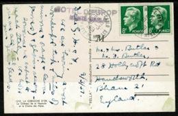 Ref 1255 - 1951 France Postcard - Monaco 16f Rate To Birmingham UK - Hotel D' Europe Cachet - Monaco