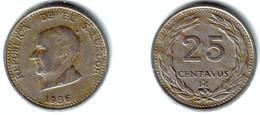 EL SALVADOR - 25 Centavos 1986 - KM#139a XF - El Salvador