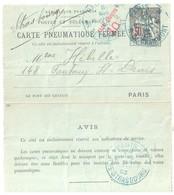 PARIS 8 Grammont Pneumatique Strasbourg Ob Type H 11 3 1903 Carte Lettre 50c Taxe Réduite 30c Chaplain Yv 2526 Storch D9 - Pneumatiques