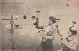 Couples : Sur Les Fils Télégraphiques ( Bergeret ) - Couples