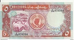 SOUDAN 5 POUNDS 1991 UNC P 45 - Soudan