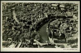 Ref 1255 - Real Photo Postcard - KLM - Aerial View Of Haarlem Netherlands (2) - Haarlem