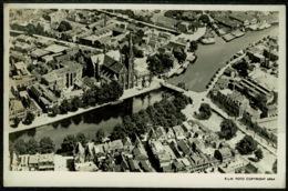 Ref 1255 - Real Photo Postcard - KLM - Aerial View Of Haarlem Netherlands - Haarlem