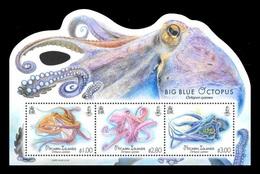 Pitcairn Islands 2018 Mih. 1035/37 (Bl.75) Fauna. Big Blue Octopus MNH ** - Pitcairn