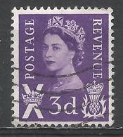Scotland 1958. Scott #1 (U) Queen Elizabeth II, St. Andrew's Cross And Thistle - Emissions Régionales