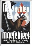 Propaganda, Hitler, Nazi, Drittes Reich, Reichsparteitag, Hakenkreuz, Swastika, Propagandakarte, HJ - Weltkrieg 1939-45