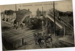 47 MARMANDE - Passerelle - Route De Miramont - Très Animée - Beau Plan - TRAIN, LOCO, Passage à Niveau - Marmande