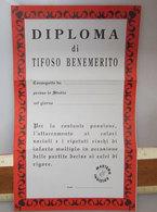 DIPLOMA DI TIFOSO BENEMERITO - Calcio