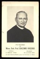 LUTTINO - RICORDO DI MONS. GIACOMO FRIGERIO DI ERBA DEL 1963 - Vecchi Documenti