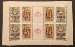 CZECHOSLOVAKIA - MH* - 1962  - # FOLD - Blocks & Sheetlets