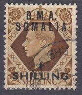 GRAN BRETAGNA - SOMALIA - AMMINISTRAZIONE MILITARE - 1948 - Yvert 18 Usato. - Great Britain (former Colonies & Protectorates)
