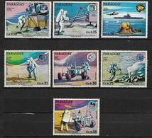 PARAGUAY 1970 CONQUISTA DELLA LUNA E DELLO SPAZIO YVERT. 1075-1081 MNH XF - Paraguay