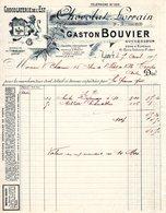 Facture à Entete :GASTON BOUVIER Chocolat Lorrain 1905 - Food
