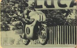 Isle Of Man - IM-TEL-0129, TT Racers 1998, Luigi Taveri, Honda, 6,000ex, 1998, Used As Scan - Isla De Man