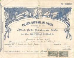 Lisboa - Colégio Nacional De Lisboa, Recibo De 1914 - Diplômes & Bulletins Scolaires