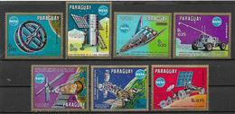 PARAGUAY 1970 FUTURI PROGETTI DELLA NASA YVERT. 1082-1088 MNH XF - Paraguay