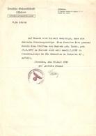 Deutschland Deutsche Gefandtfchaft Konsulatsabteilung 1940 Rostock Passport Passaport Passeporte MIlitary Militaire - Old Paper