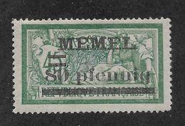 Memel 1920, 80pf On 45c,Scott # 25,VF MLH*OG (A-7) - Memel (1920-1924)