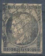 N°3  NUANCE ET OBLITERATION - 1849-1850 Cérès