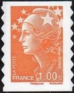 France Marianne De Beaujard Autoadhésif N°  215 ** Au Modèle 4235 - Le 1.00 Eur. Orange - 2008-13 Marianna Di Beaujard