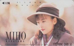 Télécarte Japon / 110-62641 - Femme Cinema - MIHO NAKAYAMA - Music & Actress Girl Japan Phonecard - 3774 - Kino