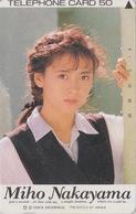 Télécarte Japon / 110-70814 - Femme Cinema - MIHO NAKAYAMA - Music & Actress Girl Japan Phonecard - 3776 - Film