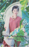 Télécarte Japon / 110-89106 - Femme Cinema - MIHO NAKAYAMA - Music & Actress Girl Japan Phonecard - 3777 - Cinema