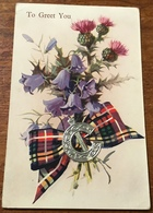 """To Greet You ~ """" Scotch Emblem Fitment"""" Series ~ Valentine,s Postcard - Andere"""