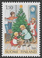 Finland SG1002 1981 Christmas 1m.10 Unmounted Mint [39/31797/6D] - Finland