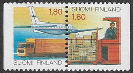Finland SG1138/1139 1988 Posts And Telecommunications (1st Issue) Pair Unmounted Mint [32/157/6D] - Finland