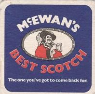 UNUSED BEERMAT - McEWANS BREWERY (EDINBURGH, SCOTLAND) - BEST SCOTCH - (Cat No 043) - (1975) - Portavasos