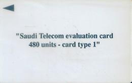 Saudi Arabia GPT Cards, Test Card, Saudi Telecom Evaluation Card, 480u, ISAUB (1pcs,MINT) - Saudi Arabia