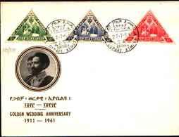 74790)  ETIOPIA:-FDC- 1961 NOZZE  D'Oro 50° Anniversario Di Matrimonio 1911-1961 - SERIE COMPLETA - Etiopia