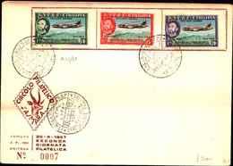 74792)  ETIOPIA:-FDC- 1957 10° ANN. LINEE AEREE DELL'ETIOPIA  SERIE COMPLETA - Etiopia