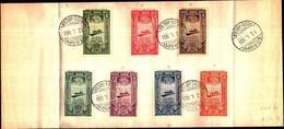 74793)  ETIOPIA:-FDC- ETIOPIA REGNO 1933-SERIE COMPLETA P.AEREA - Etiopia