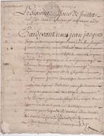 GENERALITE De  TOURS 2 SOLS 4D. 15 JUIL. 1789 - LA CHAPELLE-sur-OUDON ( 2 Feuillets) - Cachets Généralité