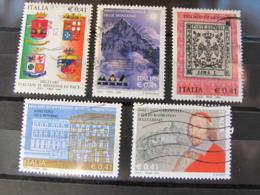ITALIA USATI - LOTTO 5 FRANCOBOLLI ANNO 2002 - 6. 1946-.. Repubblica