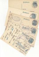 16 Ganzsachen Aus Kreuzau, Pr.Stargard,Geislingen..Bahnhof, Beyenburg,Ratzeburg, Geislingen A.d. Steige, Lüttringhausen, - Covers & Documents