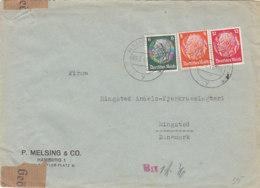 Zensurbrief Aus HAMBURG 2.5.41 Nach Ringsted / Dänemark - Briefe U. Dokumente