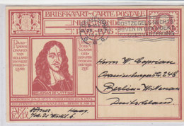 Ganzsache Johan De Witt Aus S' Gravenhage 28.2.27 Nach Berlin-Wittenau - Period 1891-1948 (Wilhelmina)