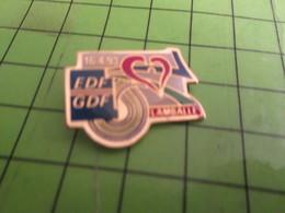917 Pin's Pins / Rare & De Belle Qualité : THEME EDF GDF / LAMBALLE 1992 COEUR ROUGE - EDF GDF
