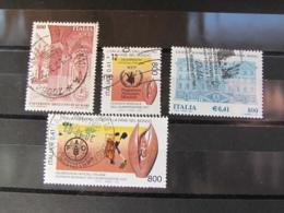 ITALIA USATI - LOTTO 4 FRANCOBOLLI ANNO 2001 - 6. 1946-.. Repubblica