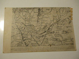 WW I 1914 - 17 MACEDONIA  MONASTIR MAP     , OLD  POSTCARD, O - Mapas