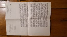 COURRIER DE GUERRE 194 PARLANT DES BOMBARDEMENTS DE MEAUX PAR DES SALARIES DE LA SOCIETE GENERALE PARTIS A AUCH - Historische Dokumente