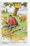 HUMOUR - PECHEUR A LA LIGNE - CHAPERON JEAN - N° 1140 - FORMAT CPA VOYAGEE - 75 - Humour