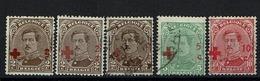 Entre 151 Et 153  5 Valeurs Fausses Surcharges - 1918 Croix-Rouge