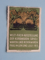 1913 PRAG Welt Fach Ausstellung Der Korbwaren - Spiel ( Sluitzegel Timbres-Vignettes Picture Stamp Verschlussmarken ) - Seals Of Generality