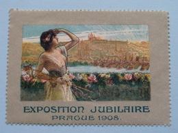 EXPOSITION JUBILAIRE PRAGUE 1908 ( Sluitzegel Timbres-Vignettes Picture Stamp Verschlussmarken ) - Cachets Généralité